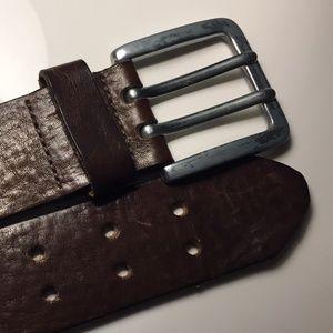 Dark Brown genuine leather ALDO belt | Size 36
